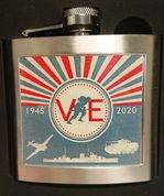 VE Day-Hip Flask
